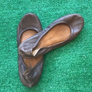 Lucky brand brown leather ballet flats 8.5 shoes